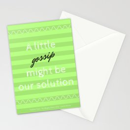 A little gossip Stationery Cards