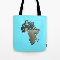 african Tote Bags featuring African Continent by ArtSchool