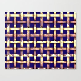 Brown weaved pattern Canvas Print