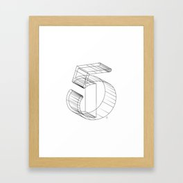 """ Numbers Collection "" - Number Five 3D Framed Art Print"