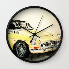 MGC 1969 Roadster Classic Sports Car Acrylics On Paper Wall Clock