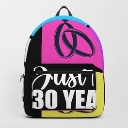 Just Married 30 Years Ago Marriage Anniversary Backpack