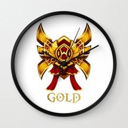 League of Legends Gold Tier Wall Clock