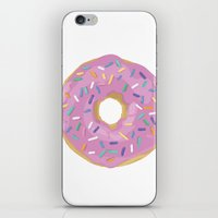 donut iPhone & iPod Skins featuring Donut by Sian Murray Art