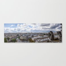 Panorama of Paris from Notre Dame  Canvas Print