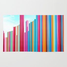 Colorful Rainbow Pipes Rug