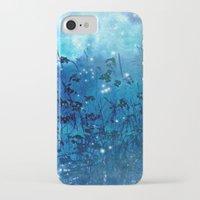 fireflies iPhone & iPod Cases featuring Fireflies by Deborah Lehman