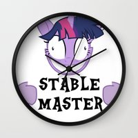 mlp Wall Clocks featuring MLP: Stable Master by turokevie
