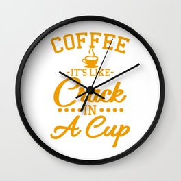 COFFEE QUOTE Gift Coffee Lover for Barista Wall Clock