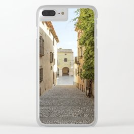 Spanish Street in Altafulla Clear iPhone Case