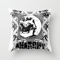 anarchy Throw Pillows featuring Anarchy scream by Tshirt-Factory