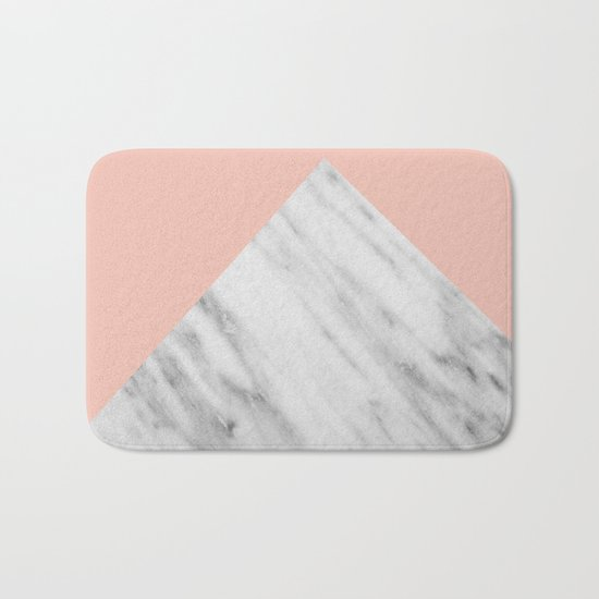 Pink Marble Collage Bath Mat