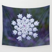 snowflake Wall Tapestries featuring Snowflake by The Last Sparrow