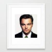leonardo dicaprio Framed Art Prints featuring Leonardo DiCaprio by lauramaahs