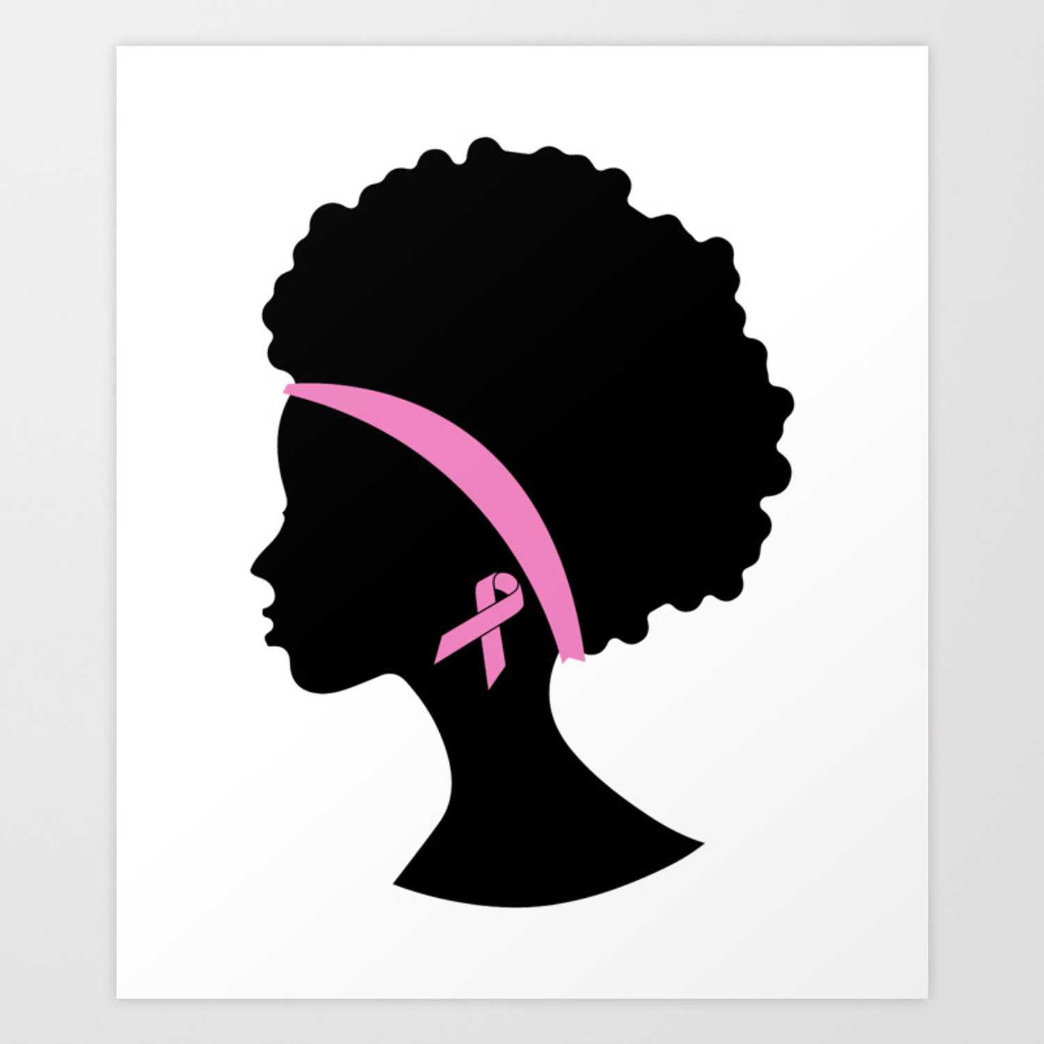 Breast Cancer Black Women African American Breast Cancer Art Print By Jmgdesigns Society6