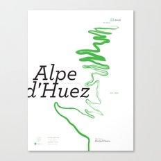 Famous Climbs: Alpe d'Huez 1, Modern Canvas Print