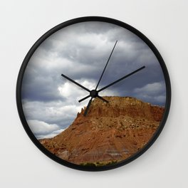 Buttes of New Mexico - On the Road to Santa Fe, No. 3 Wall Clock