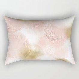 Rose Gold and Gold Blush Rectangular Pillow