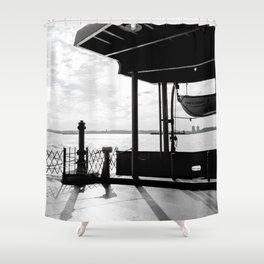 Staten Island Ferry (Silhouette) Shower Curtain