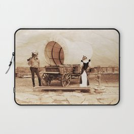Old West Cowboy Cat and his Gal Laptop Sleeve