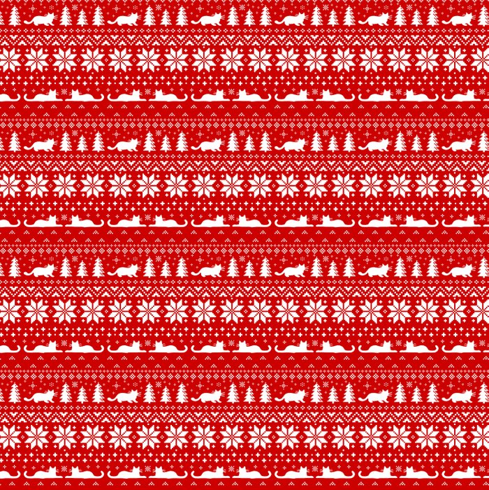 Christmas Sweater Pattern.Cat Lover S Christmas Sweater Pattern Duvet Cover