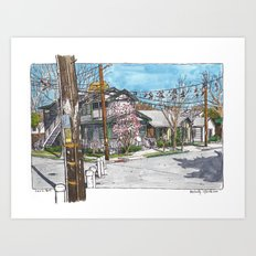 3rd and University, Davis Art Print