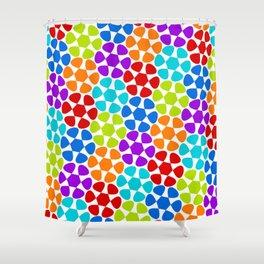 Multi-Coloured Flower Pattern Shower Curtain