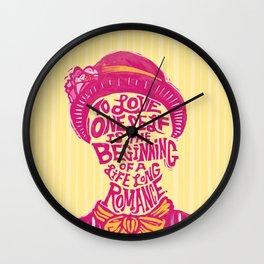 Love Oneself for a Lifelong Romance Wall Clock