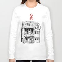 pagan Long Sleeve T-shirts featuring Petite Mort by Tom Kitchen