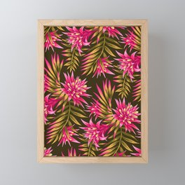 Fasciata Tropical - Pink Green Framed Mini Art Print
