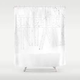 Twins-Since-1971---46th-Birthday-Gifts Shower Curtain