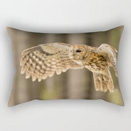Tawny Owl in Flight Rectangular Pillow