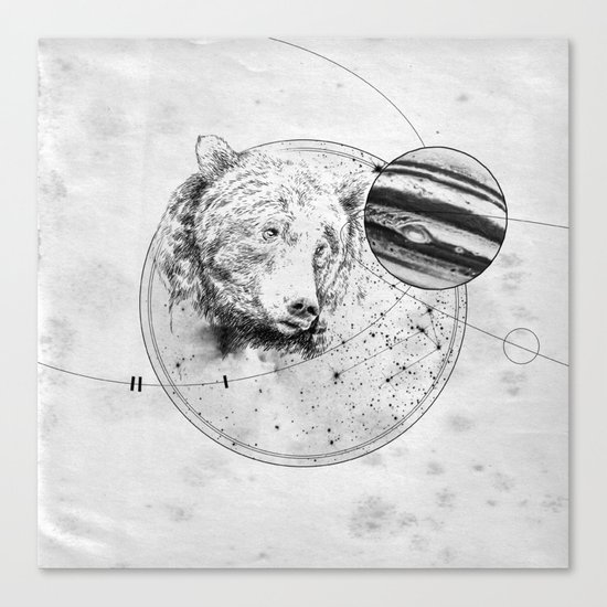 Panic at the planetarium Canvas Print