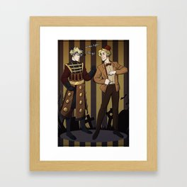Halloween battle  Framed Art Print