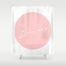 Pisces Star Sign Soft Pink Circle Shower Curtain