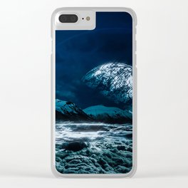 Silver Sky Clear iPhone Case