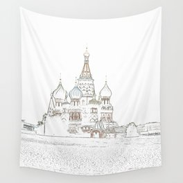 Saint Basil's Cathedral (on white) Wall Tapestry
