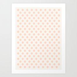 Vintage Dot Pale Peach Art Print