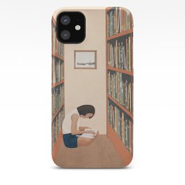 Getting Lost in a Book iPhone Case