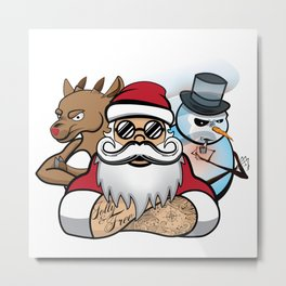 Santa's Crew Metal Print