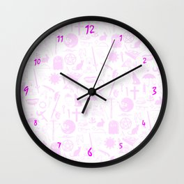 Buffy Symbology, Pink Wall Clock