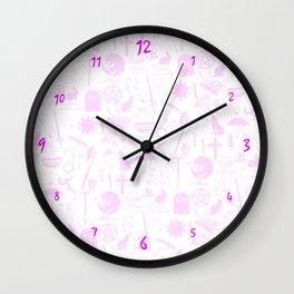 Buffy Symbology, Pink Wall Clock