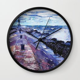 Lake Michigan Waves Wall Clock