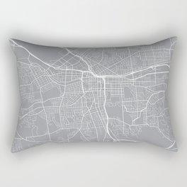 Syracuse Map, New York USA - Pewter Rectangular Pillow