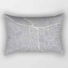 Syracuse Map, New York USA - Pewter Rectangular Pillow