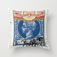cuba Throw Pillows featuring VINTAGE CUBA by RIGOLEONART