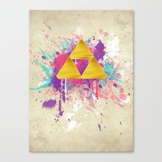 Splash Triforce Canvas Print
