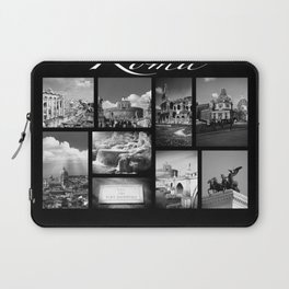 Rome Poster black and white Laptop Sleeve