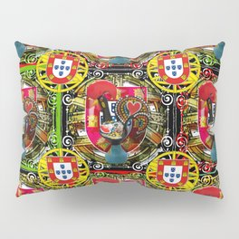 Galo de Barcelos, Portuguese Art Pillow Sham