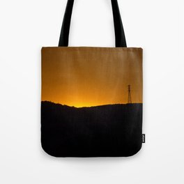 Sunset over the hills Tote Bag
